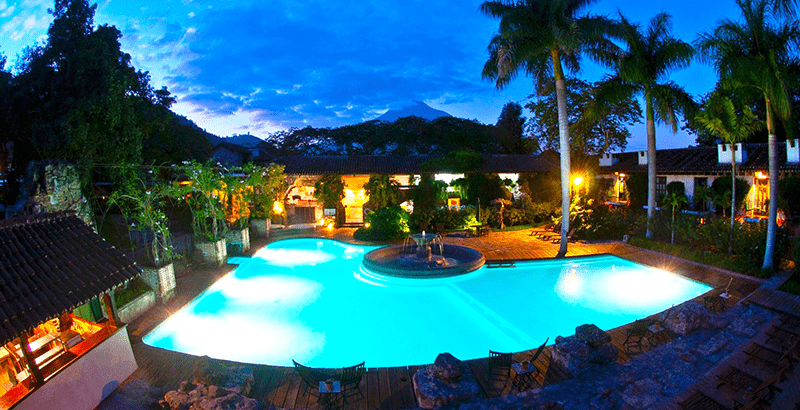 vista panoramica de una hacienda en guatemala